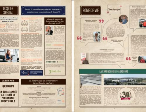 Voici la nouvelle gazette du Technopole Agroparc